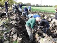 Dry stone walling at Wetley Moor