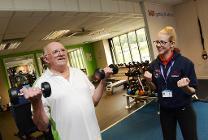 Cllr Johnson taking part in the cardiac programme