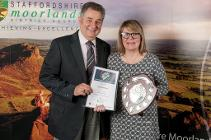 Volunteer winner Angie Heathcote with Councillor Mike Bowen