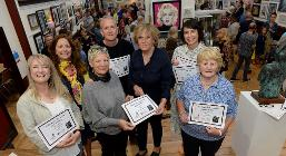 Winners and runners-up at this year's Open Art awards