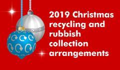 Christmas bin collections 2019