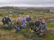 Planting sphagnum moss at the Roaches