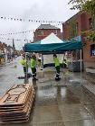 AES staff working on the market in Leek