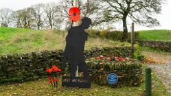 The war memorial in Butterton